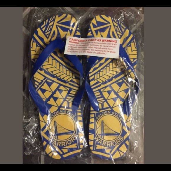 42f990ca44f5 Golden State Warriors Polynesian Night Flip Flops